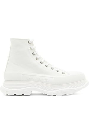 Alexander McQueen Tread Slick High-top Chunky-sole Canvas Trainers - Mens