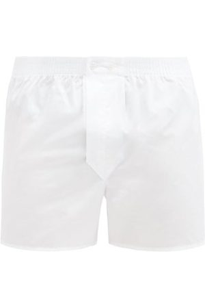 DEREK ROSE Savoy Cotton-poplin Boxer Shorts - Mens