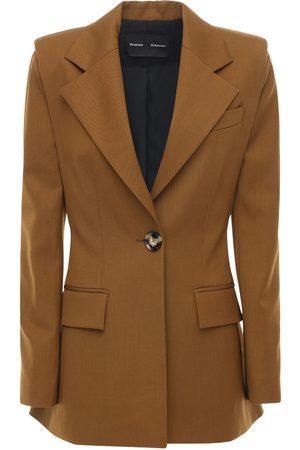 Proenza Schouler Stretch Wool Blazer Jacket