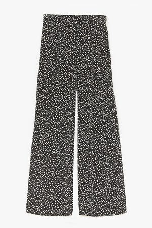 NASTY GAL Womens What's Dot into You Wide Leg trousers - - 4