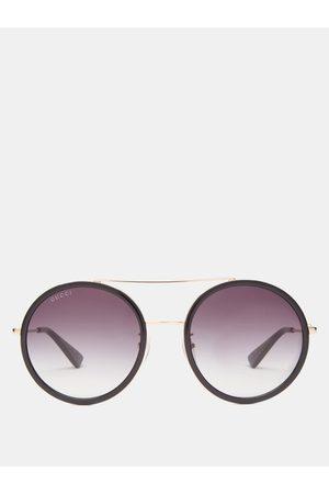 Gucci Round Metal Sunglasses - Womens