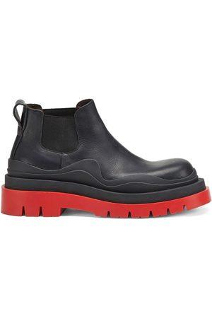 Bottega Veneta Leather BV Tire Low Chelsea Boots