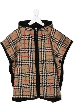 Burberry Vintage check hooded cape - Neutrals