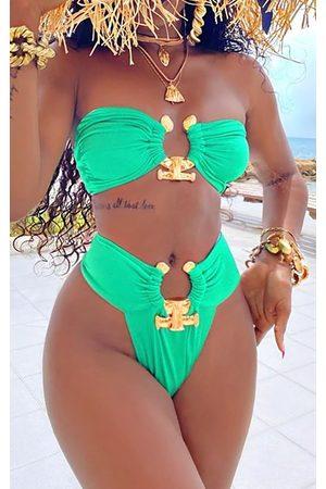 PRETTYLITTLETHING Women Bikinis - Hammered Trim Bikini Bottoms