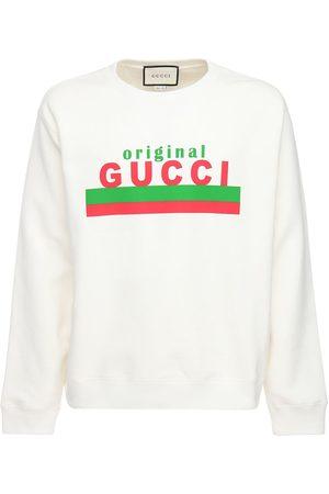 Gucci Original Print Cotton Sweatshirt