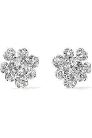 ANNOUSHKA 18kt Marguerite diamond large studs - 18ct