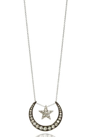 ANNOUSHKA 18kt diamond lunar necklace - 18ct