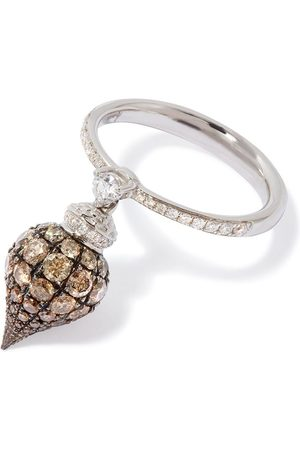 ANNOUSHKA 18kt Touch Wood diamond ring - 18ct