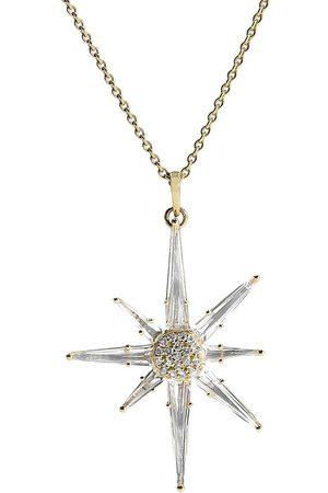 BONDEYE JEWELRY 14kt yellow gold Astraea white topaz and diamond necklace - YLWGOLD