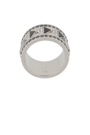 Karl Lagerfeld Women Rings - Crystal-embellished band ring