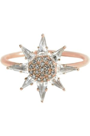 BONDEYE JEWELRY 14kt rose gold diamond Clio ring - ROSEGOLD