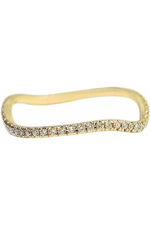 BONDEYE JEWELRY 14kt yellow gold diamond wave ring - YLWGOLD