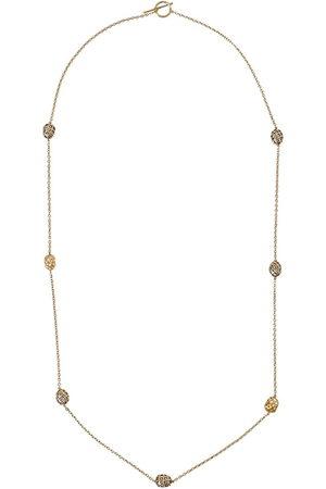 YOSSI HARARI 18kt and 24kt yellow diamond bead necklace