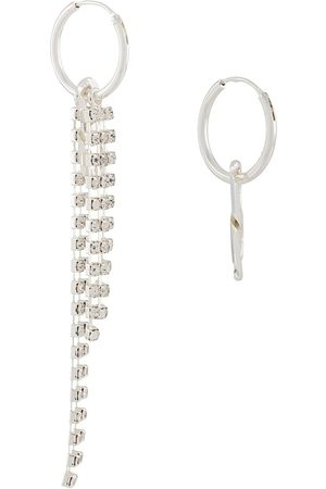 Coup De Coeur Crystal mismatched drop earrings