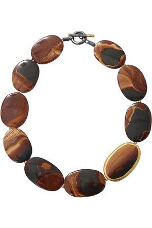 YOSSI HARARI 24kt yellow gold agate necklace - YLWGOLD