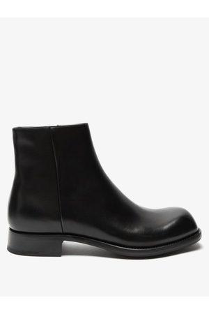 Prada Men Boots - Square-toe Leather Boots - Mens