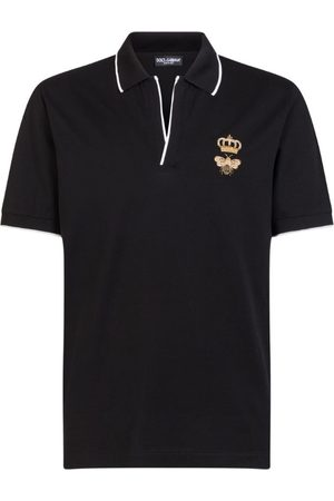 Dolce & Gabbana Men Polo Shirts - Bee-Embroidered Polo Shirt