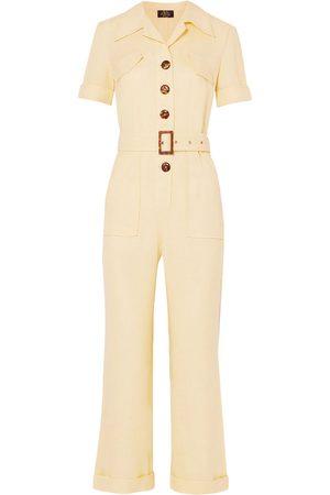 De La Vali Woman Caminito Gauze Jumpsuit Pastel Size 10