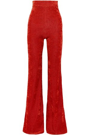 Ellery Women Stretch Trousers - Woman Footnote Striped Stretch-velvet Flared Pants Size 8