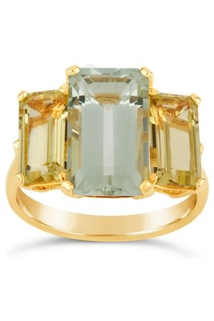Dinny Hall Trinny Trilogy Green Amethyst And Oro Verde Ring