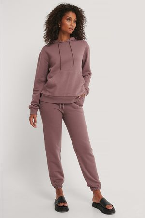 NA-KD Women Trousers - Brushed Drawstring Sweatpants - Purple