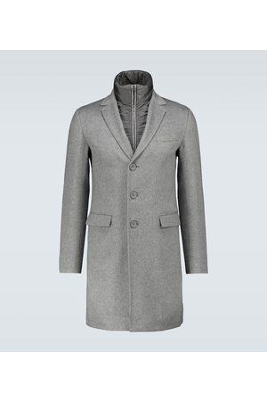 HERNO Men Coats - Layered cashmere overcoat