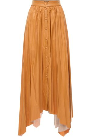 Isabel Marant Davies Pleated Faux Leather Skirt
