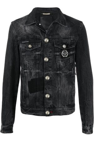 Philipp Plein Logo denim jacket