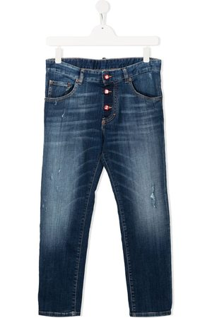 Dsquared2 TEEN faded straight-leg jeans