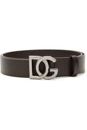 Dolce & Gabbana Crossed DG logo buckle belt