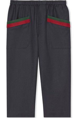 Gucci Web-detail trousers