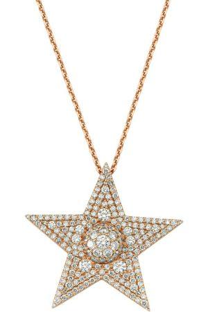 BEE GODDESS Rose Gold and Diamond Sirius Star Necklace