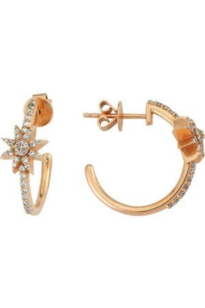 BEE GODDESS Rose and Diamond Venus Star Hoop Earrings