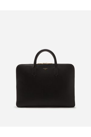 Dolce & Gabbana Business Bags - MONREAL BRIEFCASE IN CALFSKIN WITH HEAT-PRESSED LOGO