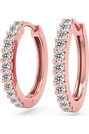 SuperJeweler 1/5 Carat Diamond Men's Hoop Earrings in 14K Rose (2.10 g), K/L