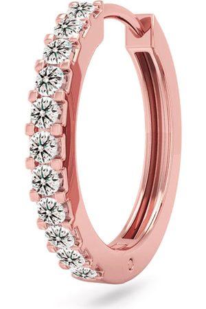 SuperJeweler 1/10 Carat Diamond Single Men's Hoop Earring in 14K Rose (1 gram), K/L