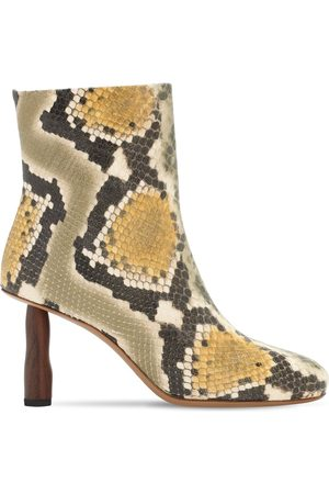 REJINA PYO 80mm Sadie Python Print Ankle Boots