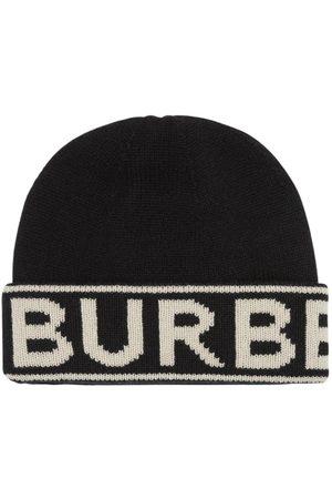 Burberry Cashmere Knit Beanie W/ Logo