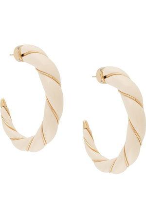 Aurélie Bidermann Diana hoop earrings - Neutrals