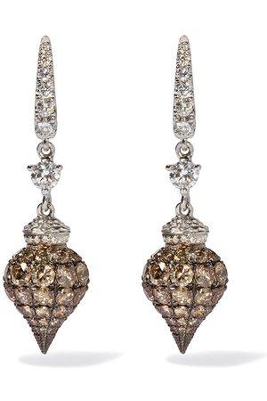 ANNOUSHKA 18kt Touch Wood diamond earrings - 18ct