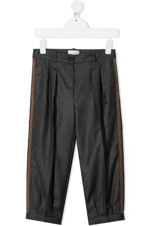 Gucci Embroidered side-panel trousers