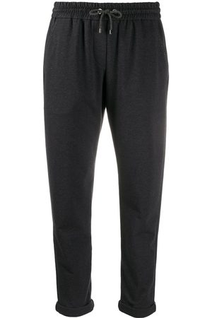 Brunello Cucinelli Cropped drawstring trousers