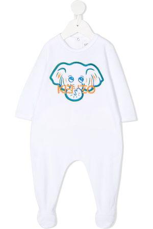 Kenzo Elephant-embroidered babygrow