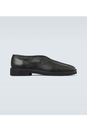 adidas Grained leather slip-on shoes