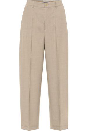 Agnona High-rise wool-blend pants