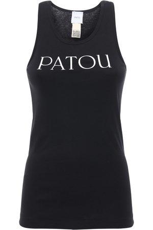 Patou Logo Print Cotton Tank Top