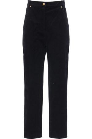 Patou High Waist Cotton Courderoy Pants