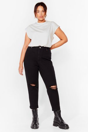 NASTY GAL Women High Waisted - Womens Mom's the Word Plus High-Waisted Jeans - - 16