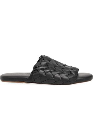 Bottega Veneta Intrecciato Leather Slide Sandals
