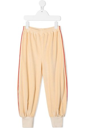 Gucci Chenille gathered-ankle track pants - Neutrals
